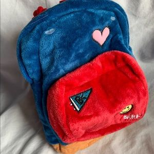 Bark box dog toy Janspup backpack blue balls tug